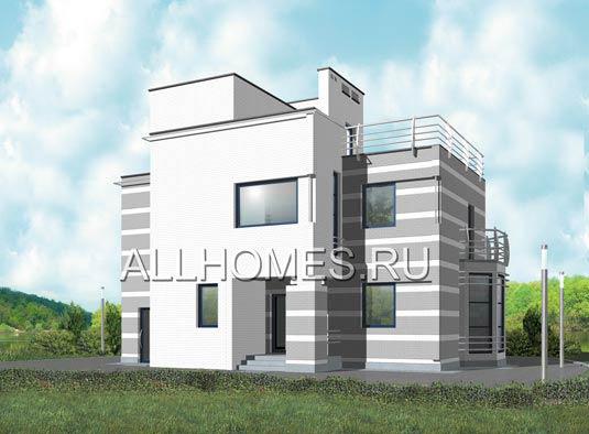 Купить готовые проекты домов и коттеджей с плоской крышей в Москве