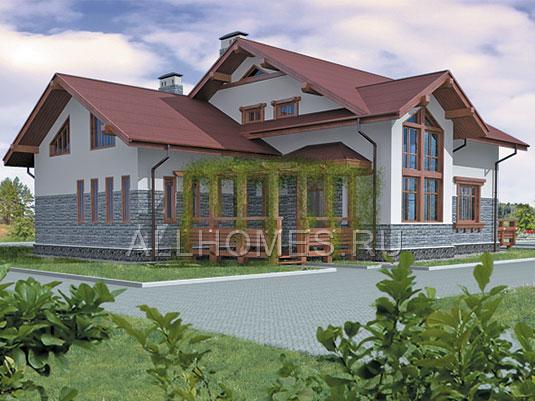 Проект дома из пеноблоков M-358-1P