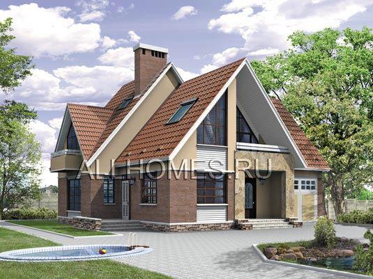 Купить готовые проекты домов и коттеджей с гаражом в Москве