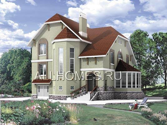 Проект дома из ячеистого бетона H-144-1P