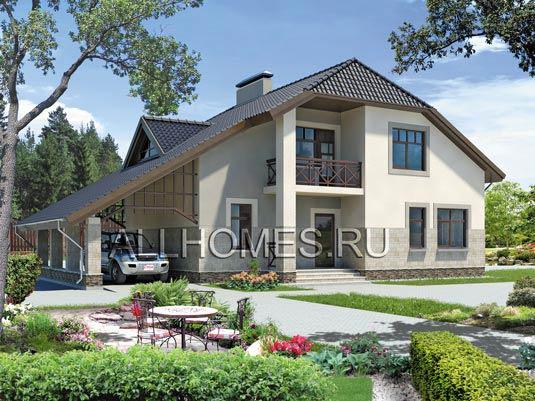 Двухэтажный дом из пеноблоков 11,5*10
