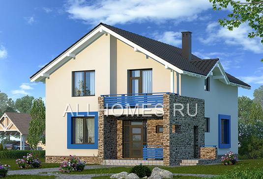 домов Проекты домов из пеноблоков