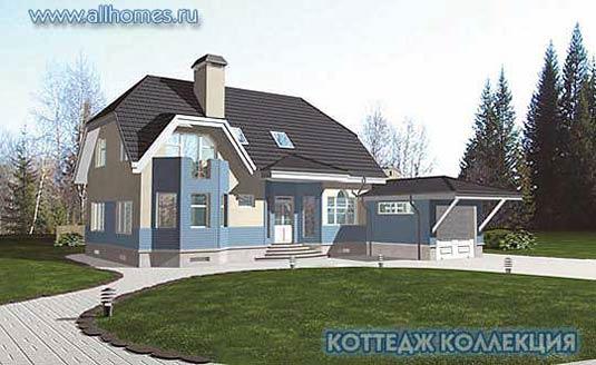 проекты домов и коттеджей с гаражом в