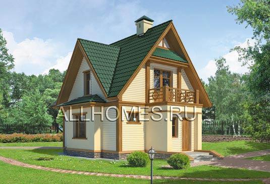 Проект загородного дома в стиле шале F-102-1P площадью 102.10 кв