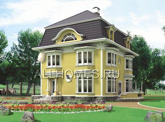 Проект загородного дома из пеноблоков