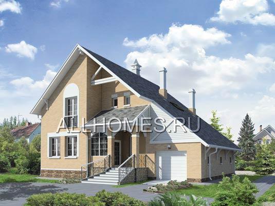 Проект загородного дома с крытой