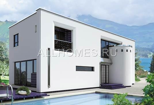 Проекты домов и коттеджей с плоской