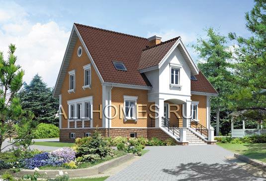 Проект одноэтажного дома 16х10 м. Вид 2