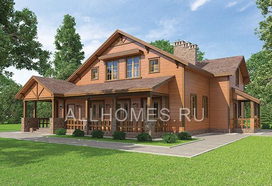 Проекты домов, дом из газоблока в
