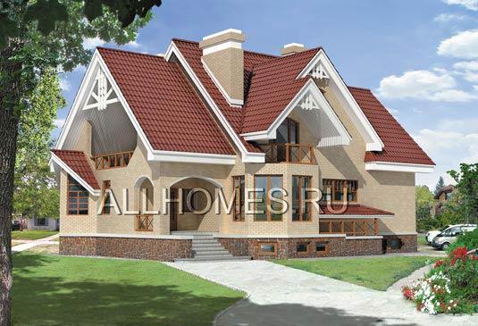 Проект дома 130 м2 - Бетонный двухэтажный загородный дом