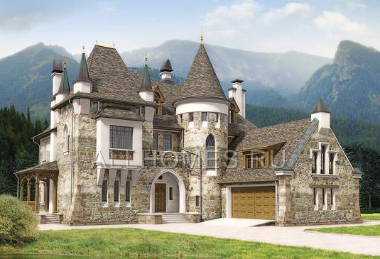 домов замок фото в стиле проекты